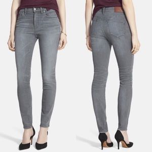 Madewell High Riser Skinny Jean in Dusty Wash